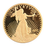1933 águia dobro de vinte dólares Imagens de Stock Royalty Free