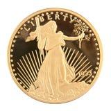 1933 águila doble de veinte dólares Imágenes de archivo libres de regalías