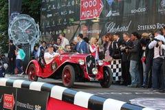1934 Fiat 508 S bij het begin van 2012 1000 Miglia Stock Fotografie