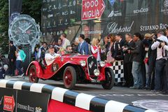 1934 Fiat 508 S at the start of 2012 1000 Miglia Stock Photography