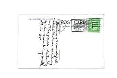 1935年明信片葡萄酒 库存照片