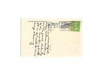 1935年明信片葡萄酒 免版税库存图片