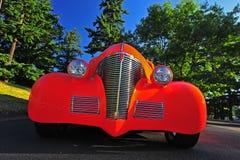 1936抽象旧车改装的高速马力汽车 图库摄影