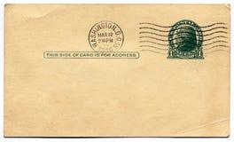 1936空白c d明信片华盛顿 免版税库存照片