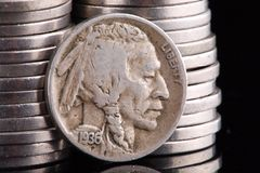 1936 Indian Head Buffalo Nickel Stock Photos