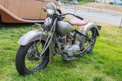 1937印第安酋长摩托车 图库摄影