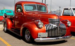 1937 Street Rod Truck. Image of a 1937 show truck at a car show royalty free stock photos