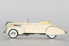 1938 Lincoln Zephir classic toy car sideview. Picture of a 1938 Lincoln Zephir classic toy car. From my brothers toy collection Royalty Free Stock Image