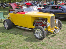 1938 Yellow Ford Roadster Royalty Free Stock Photo