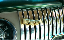 1940 kontrolny chevroleta dash s Fotografia Stock