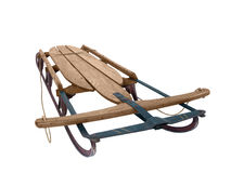 1940's Snow Sled. Large wooden snow sled from the 1940's Stock Photography