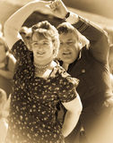 1940s couple dancing royalty free stock photo