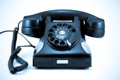 1940s Era Phone Blues. 1940s Era Phone Isolated on White Background in Blue Tone royalty free stock photos
