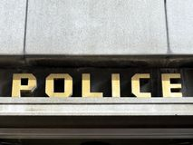 1940s Police station sign. In London, England Royalty Free Stock Image