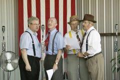1940s radio theater actors Stock Photography