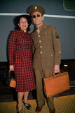 1940s serviceman and his wife Royalty Free Stock Images