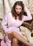 1940s Style Pin-Up Shot of Beautiful Young Woman Stock Photos