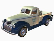1941 Pickup Truck-Dairy. 3D Computer Render of an 1941 Pickup Truck Royalty Free Stock Photo