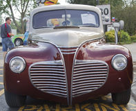 1941 Plymouth Classic Car. APPLETON, WI - JULY 21: 1941 Plymouth with Drive In Speaker at the 18th Annual WVBO Classic Car Show and Cruise at Fox Valley Stock Image