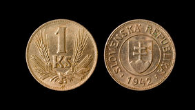 1942硬币斯洛文尼亚 免版税库存照片