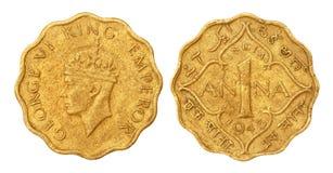 1943年名言硬币印第安老一个 免版税图库摄影