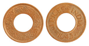 1943枚硬币印第安老一pice 库存照片