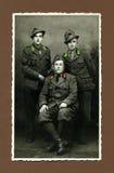 1943 antique man military original photo στοκ εικόνα