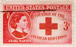1943 Postage Stamp Clara Barton. This is a Vintage 1943 US Postage Stamp Clara Barton American Red Cross Royalty Free Stock Photography