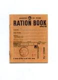 1944-45 livro de ração do tempo de guerra Imagem de Stock