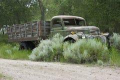 1946年薛佛列汽车平板车卡车 图库摄影