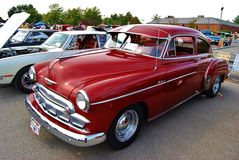 1946 Burgundy Chevrolet Deluxe Royalty Free Stock Images