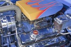 1947年Chevy 2门小轿车引擎 免版税图库摄影