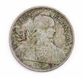 1947枚硬币法国葡萄酒 免版税库存照片