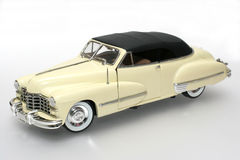 1947 Cadillac metal scale toy car #2. Picture of a 1947 Cadillac. Detailed scale model from my brothers toy collection Royalty Free Stock Photo