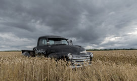 1949 Chevy Truck Abandoned In A Field Stock Images