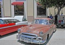 1950年薛佛列汽车四开门轿车 免版税图库摄影
