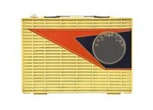 1950年googie脏的收音机s葡萄酒 免版税库存图片