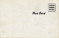 1950自然明信片s口气 库存照片