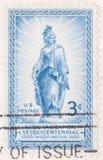 1950资本国家sesquicentennial印花税 图库摄影