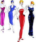1950 fashion history model Στοκ φωτογραφίες με δικαίωμα ελεύθερης χρήσης