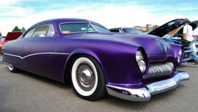 1950 Purple Ford Coupe Frontal Design Detail Royalty Free Stock Photography