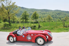 A 1950 red Healey Silverstone Stock Images