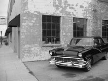 1950's Classic Ford. A black and white shot of a classic 1956 Ford Fairlane Stock Image
