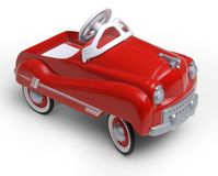 1950's era red toy car stock image