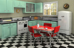 1950's Kitchen stock illustration