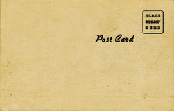 1950's Postcard, Sepia Tone. Blank back of a 1950's souvenir postcard.  Sepia tone with black text Royalty Free Stock Photography