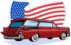 1950's styled station wagon Stock Image