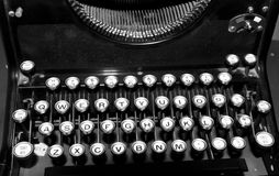 1950's Typewriter Keys Royalty Free Stock Images