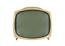 1950's Vintage Television. Isolated on white Royalty Free Stock Photography