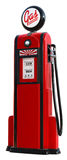 1950s gas pump. A 3d rendered red 1950's era gas pump Royalty Free Stock Photo